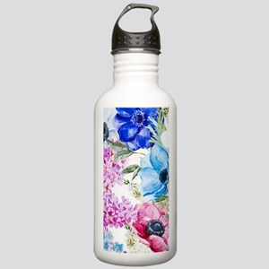 Chic Watercolor Floral Stainless Water Bottle 1.0L