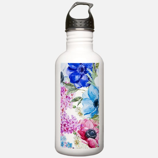 Chic Watercolor Floral Water Bottle