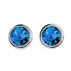 Blue Steampunk Dragonfly Round Cufflinks