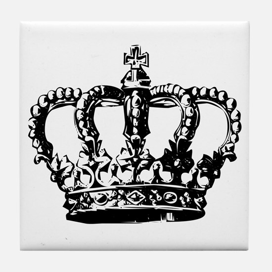 Black Crown Tile Coaster