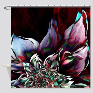 Watercolor Flower Abstract Shower Curtain