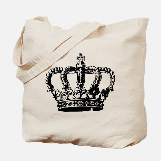 Black Crown Tote Bag