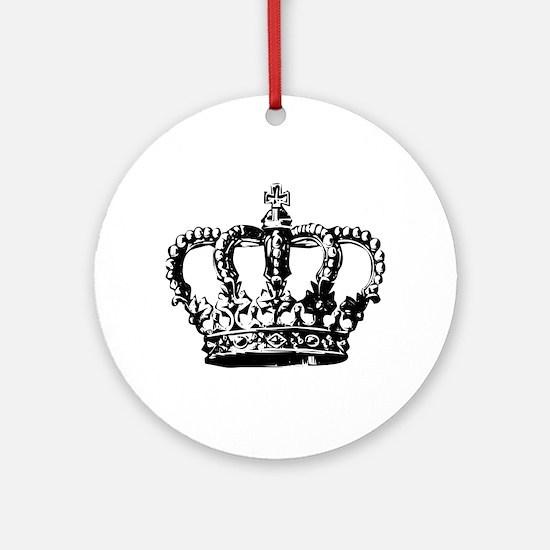 Black Crown Ornament (Round)