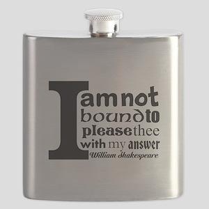 """""""No"""" a la Shakespeare Flask"""