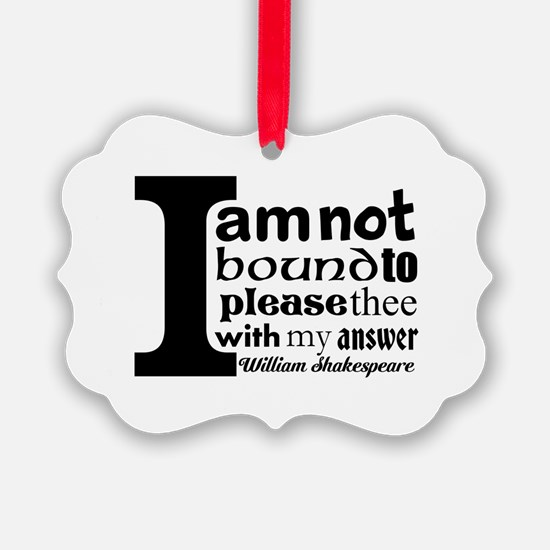 """No"" a la Shakespeare Ornament"