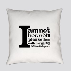 """""""No"""" a la Shakespeare Everyday Pillow"""