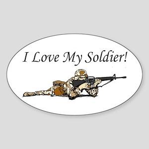 I love my soldier Army DCU's Oval Sticker