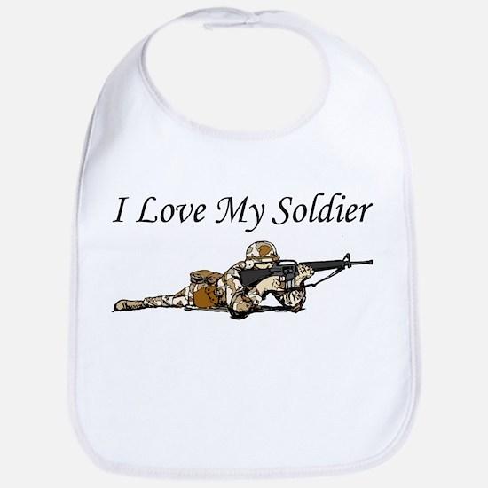 I love my soldier Army DCU's Bib