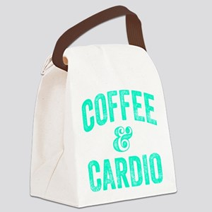 Coffee and Cardio Canvas Lunch Bag