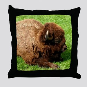 Northwest Buffalo Throw Pillow