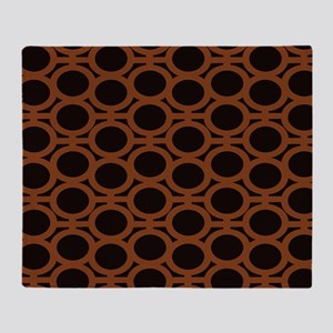 Smooth Brown and Black Eyelets Throw Blanket