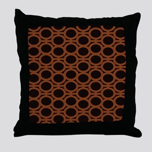 Smooth Brown and Black Eyelets Throw Pillow