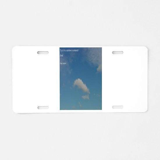 Unique Tablet Aluminum License Plate