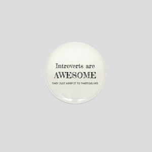Introverts are Awesome Mini Button
