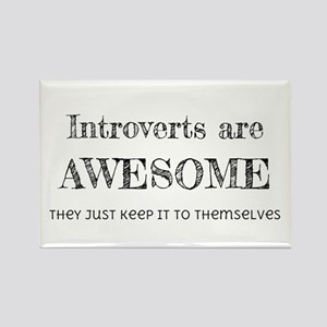 Introverts are Awesome Rectangle Magnet