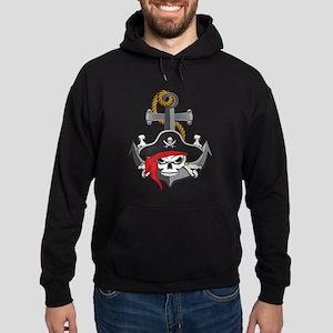 Pirate Skull Anchor Hoodie