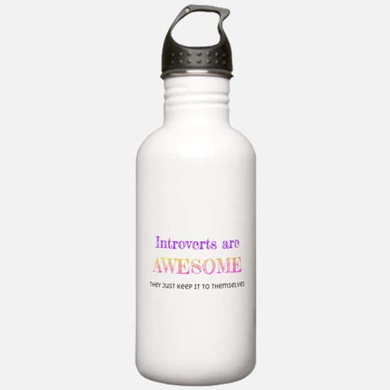 Introverts are Awesome Water Bottle
