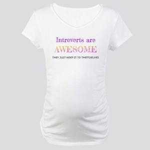 Introverts are Awesome Maternity T-Shirt