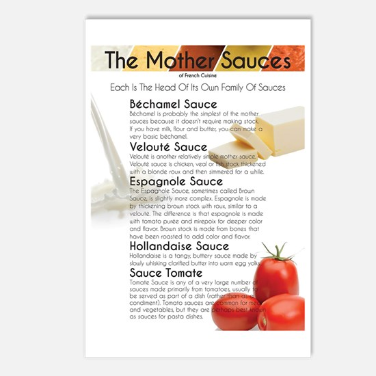 The Mother Sauces Postcards (Package of 8)