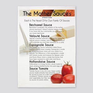 The Mother Sauces 5'x7'Area Rug