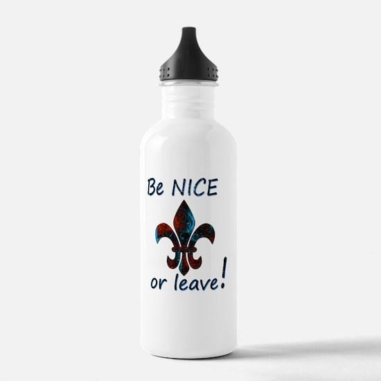Be NICE or leave Fleur Water Bottle
