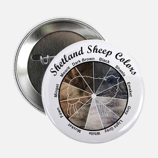 "Shetland Sheep Colors 2.25"" Button"