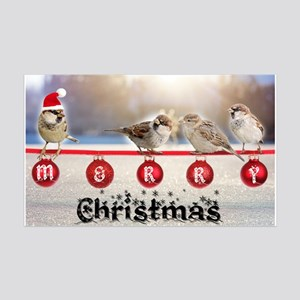 Little Christmas sparrows Decal Wall Sticker