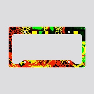 Abstract Pillows License Plate Holder