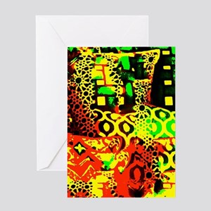 Abstract Pillows Greeting Cards