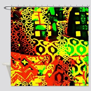 Abstract Pillows Shower Curtain