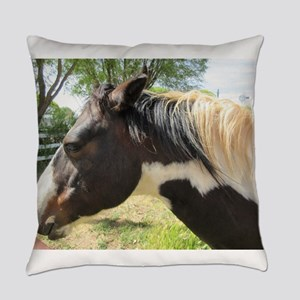 A Gorgeous Paint Horse Everyday Pillow
