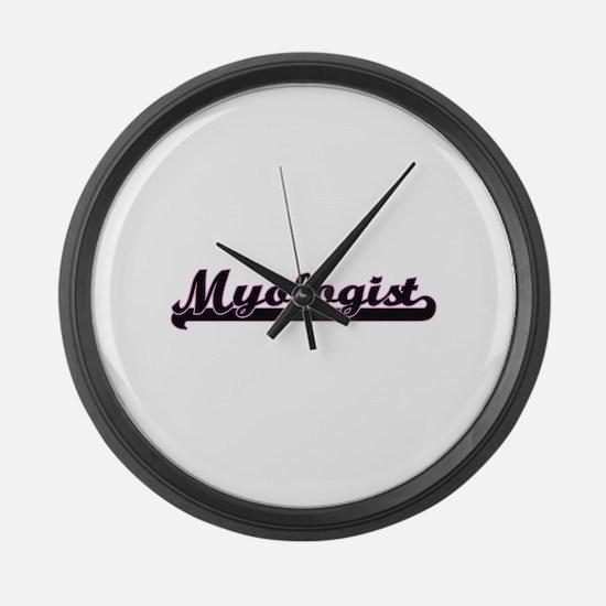 Myologist Classic Job Design Large Wall Clock