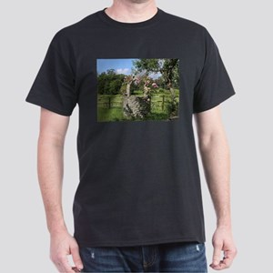 A farm wishing well with roses, El Camino, T-Shirt