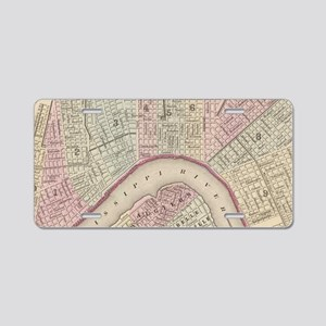 Vintage Map of New Orleans Aluminum License Plate