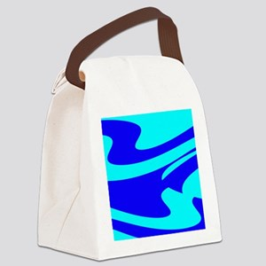 Turquoise Wild Wave Randy's Fave Canvas Lunch Bag