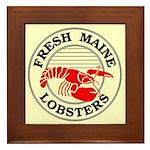 Fresh Maine Lobsters Framed Tile