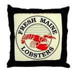 Fresh Maine Lobsters Throw Pillow