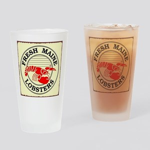 Fresh Maine Lobsters Drinking Glass