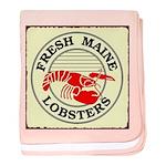 Fresh Maine Lobsters baby blanket