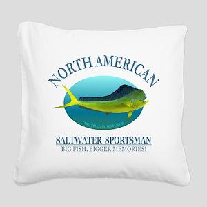NASM (Mahi Mahi) Square Canvas Pillow
