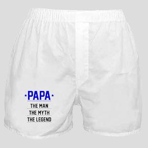 Papa - The Man, The Myth, The Legend Boxer Shorts
