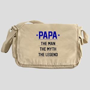 Papa - The Man, The Myth, The Legend Messenger Bag