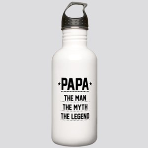 Papa - The Man, The Myth, The Legend Water Bottle