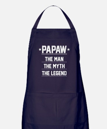 Papaw - The Man, The Myth, The Legend Apron (dark)