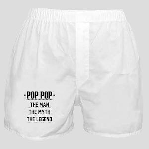Pop Pop - The Man, The Myth, The Legend Boxer Shor