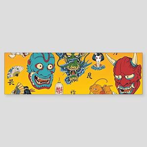 Japanese Collage Bumper Sticker