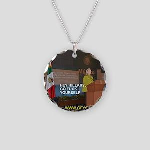 GFY Hillary Clinton Necklace Circle Charm