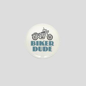 Biker Dude Mini Button