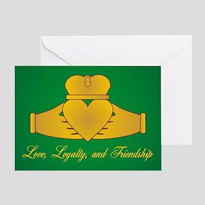 Love, Loyalty & Friendship Claddaugh Greeting Card