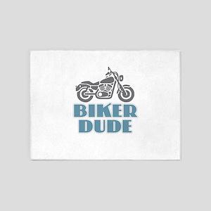 Biker Dude 5'x7'Area Rug